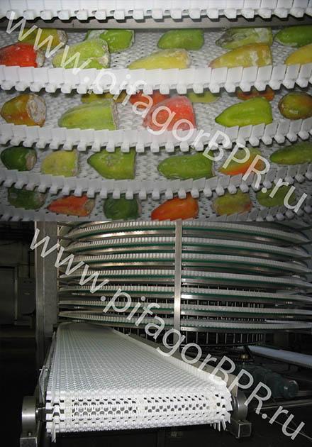Спиральный ленточный конвейер
